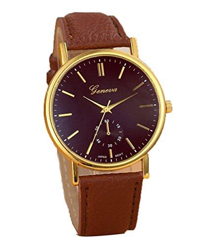 YARBAR Damen Mode Einfache und Elegante Uhren Quarz Uhren PU Leder Armband Uhr Freizeit Uhren