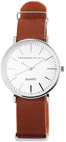 Leonardo Verrelli Herrenuhr mit Lederimitationsarmband Uhr 297227500005