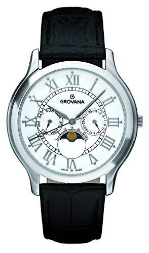 GROVANA unisex-Armbanduhr Analog Quarz Leder 10251533