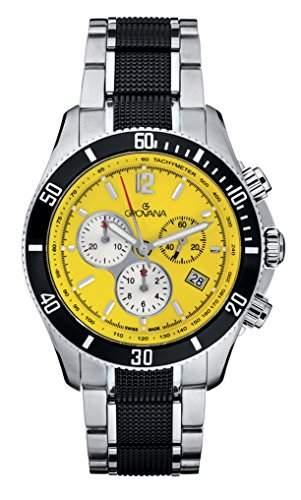 GROVANA Herren-Armbanduhr 16159176 Chronograph edelstahl Silber 16159176