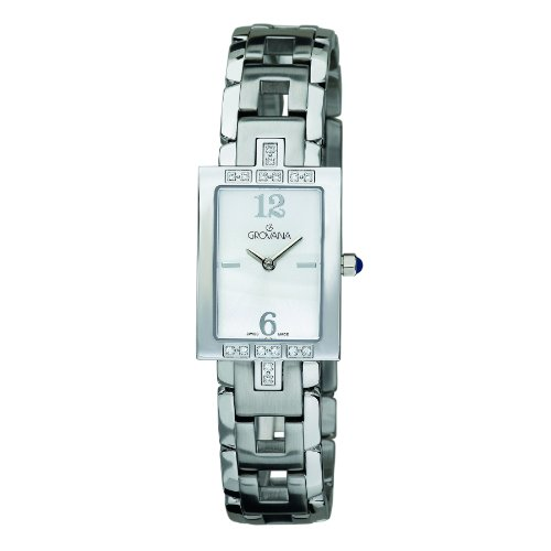 GROVANA 4560 7132 WomenSchweizer Quarz Armbanduhr mit silberfarbenem Zifferblatt Analog Anzeige und Silber Edelstahl Armband