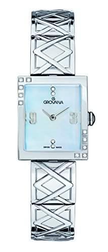 GROVANA Damen-Armbanduhr 45687135 Analog edelstahl Silber 45687135