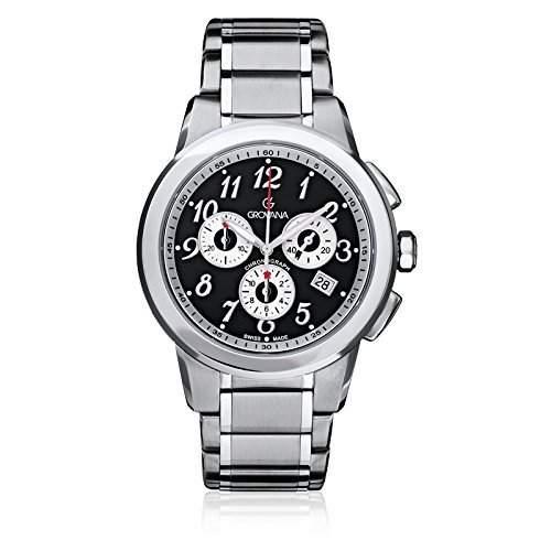 Grovana Mens Chronograph Analog Black Dial Watch - 50949137