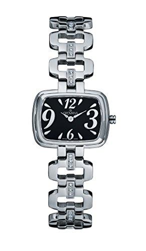 GROVANA 4539 7137 Womenschweizer Uhr Armbanduhr Analog Edelstahl silber