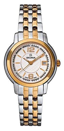 GROVANA Damen Armbanduhr 5581 1142 Analog Zweifarbig 5581 1142