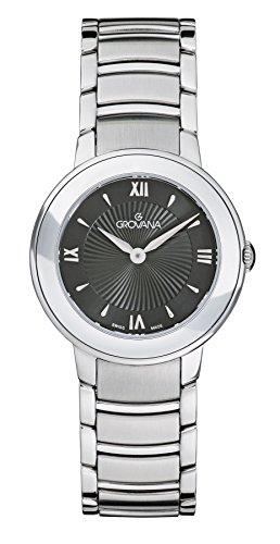 Grovana Damen Armbanduhr Analog Quarz Silber 5099 1137