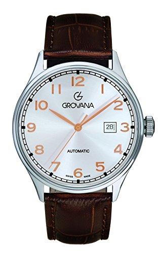 GROVANA Herren Armbanduhr Analog Automatik Leder 1190 2528