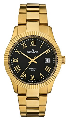 Grovana Herren Armbanduhr Analog Quarz Gold 1545 1117