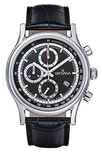 Grovana Chronograph Quarz Schwarz 1730 9537