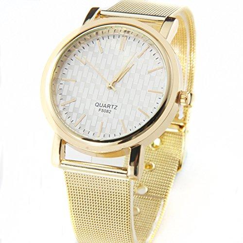 Franterd Damenuhr elegant Gold Classic Damen Quarz Edelstahl Armbanduhr