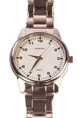 Auriol® Herren Armbanduhr - Gehaeuse und Armband in hochwertiger Edelstahlausfuerhung