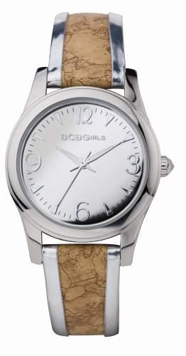 BCB Girls Damen-Armbanduhr XS Silver Streak Analog Leder GL2072