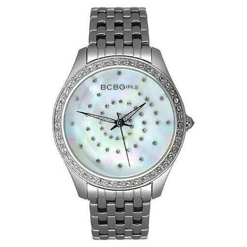 BCB Girls Damen-Armbanduhr Crystal Accented Silver Streak Analog Edelstahl GL4017