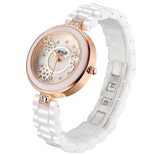 Mode Imitation Keramik Armband Damen Weiss