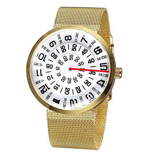 Mode Kreativ Masche Kette Band Nummer Zifferblatts Armbanduhr Herren Quarzuhr