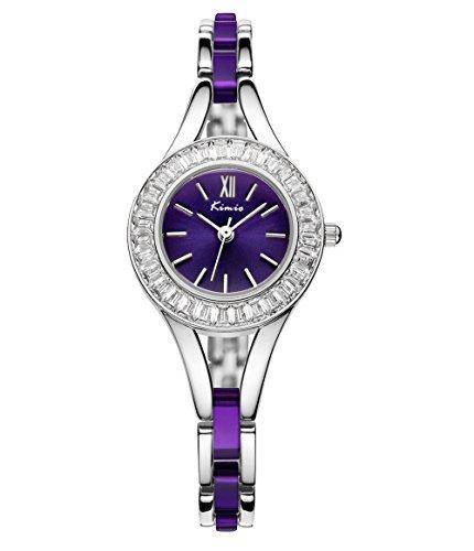 Mode Strass Mehrfarbig Band Armband Uhr Fuer Damen