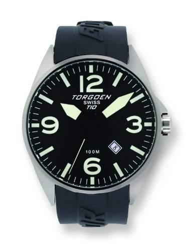 Torgoen-T10303-Armbanduhr-Quarz Analog-Zifferblatt schwarz Armband Kunststoff schwarz