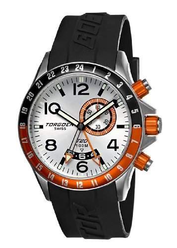 Torgoen-t20301-Zeigt Herren-Armbanduhr 1076312Analog Kunststoff schwarz