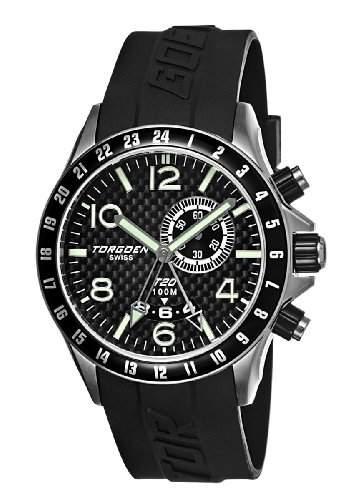 Torgoen-T20305-Armbanduhr-Quarz Analog-Zifferblatt schwarz Armband Kunststoff schwarz