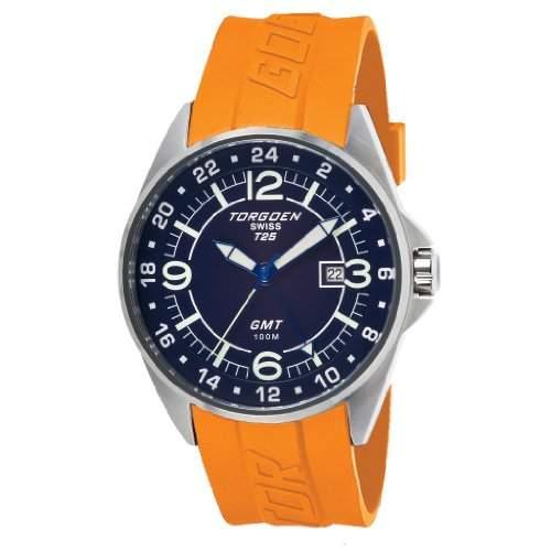 Torgoen-t25303-Zeigt Herren-Armbanduhr 10510262Analog Kunststoff orange