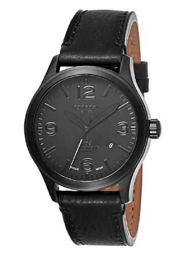 Torgoen-T32104-Zeigt Herren-Automatische Analog-Zifferblatt schwarz Armband Leder schwarz