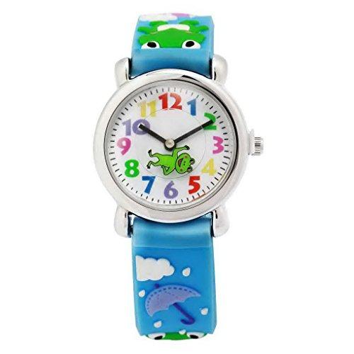 Happy Cherry Kinder Jungen Analog Blau Armband Cartoon Frosch Pattern