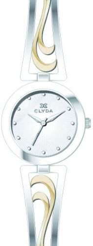 Clyda CLA0517BBPW Damen-Armbanduhr 045J699Analog silber Armband Metall rhodiniert zweifarbig