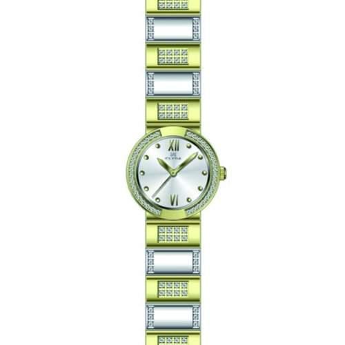 Clyda CLA0536BTRX Damen-Armbanduhr 045J699Analog silber Armband Stahl, mehrfarbig