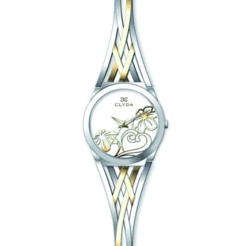 Clyda Damen-Armbanduhr Analog Quarz Edelstahl CLA0543BANW