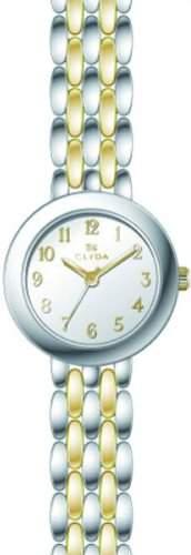 Clyda CLA0576BABX Damen-Armbanduhr 045J699Analog-Armband Metall Zweifarbig