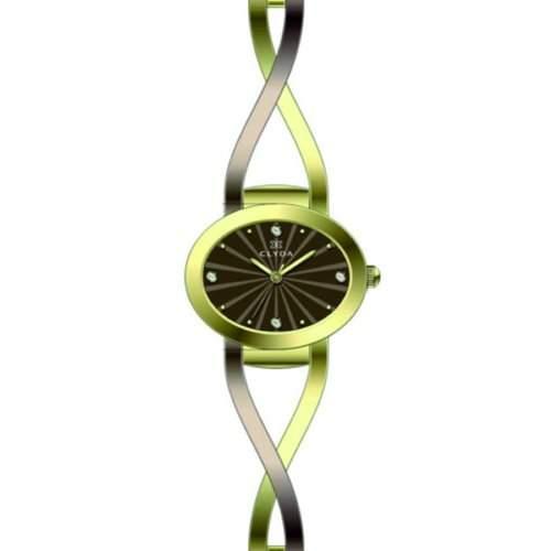 Clyda Damen-Armbanduhr Analog Quarz Edelstahl CLB0204BMBW