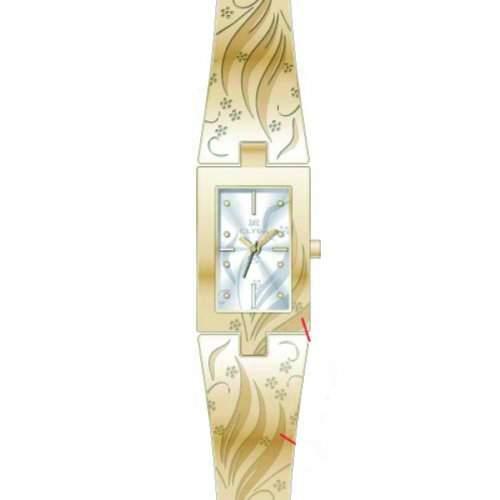 Clyda Damen-Armbanduhr Analog Quarz Metall CLD0478PBIW