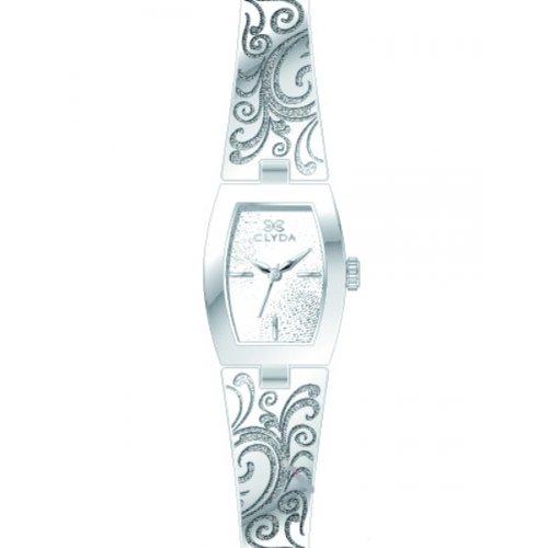 Clyda CLG0109RBIW 045J699 Analog silber Armband Metall rhodiniert Silber