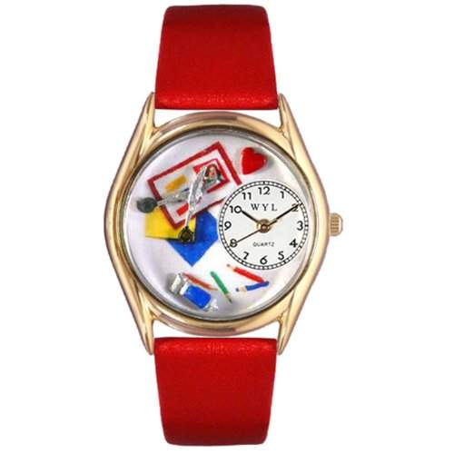 Whimsical Watches Unisex-Armbanduhr Analog Quarz Leder C-0410002