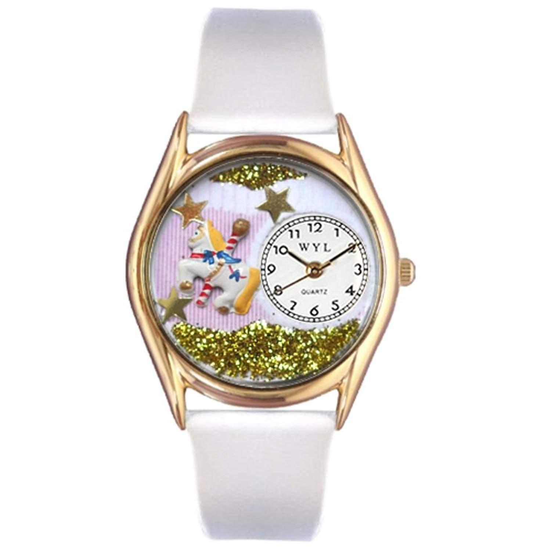 Whimsical Watches Unisex-Armbanduhr Analog Quarz Leder C-0420006