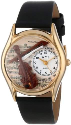 Whimsical Watches Unisex-Armbanduhr Analog Quarz Leder C-0510002