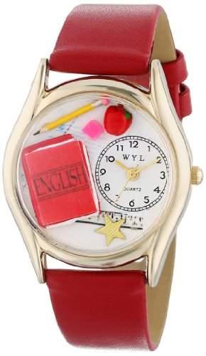 Whimsical Watches Unisex-Armbanduhr Analog Quarz Leder C-0640008