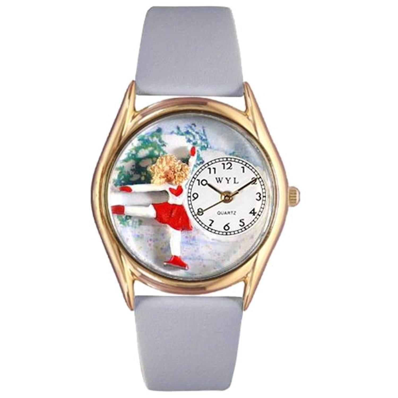 Whimsical Watches Unisex-Armbanduhr Analog Quarz Leder C-0810006