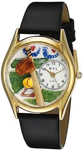 Whimsical Watches Unisex-Armbanduhr Analog Quarz Leder C-0820023