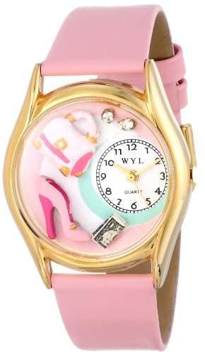 Drollige Uhren Shopper Leder und goldfarbener Mom Unisex Quartz-Uhr mit weissem Zifferblatt Analog-Anzeige und C-1010007 Mehrfarbige Lederband