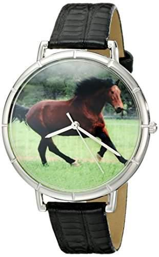 Whimsical Watches Unisex-Armbanduhr Analog Quarz Leder T-0110028