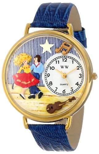 Whimsical Watches Unisex-Armbanduhr Analog Quarz Leder G-0510006