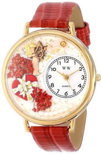Whimsical Watches Unisex-Armbanduhr Analog Quarz Leder G-1220033