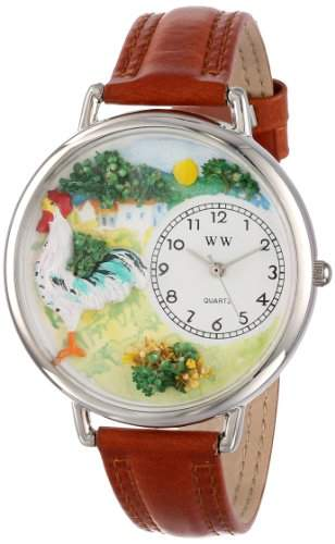 Whimsical Watches Unisex-Armbanduhr Analog Quarz Leder U-0110001