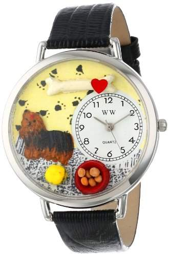 Whimsical Watches Unisex-Armbanduhr Analog Quarz Leder U-0130077