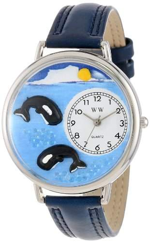 Whimsical Watches Unisex-Armbanduhr Analog Quarz Leder U-0140005