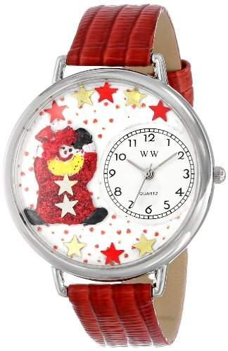 Whimsical Watches Unisex-Armbanduhr Analog Quarz Leder U-0210008