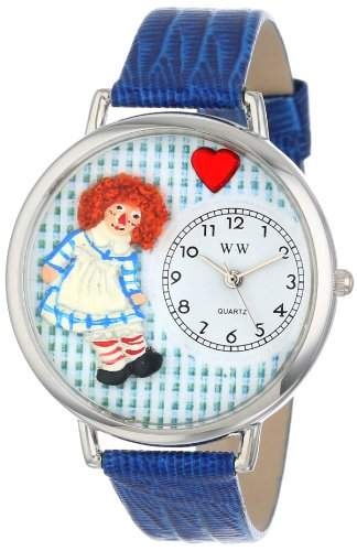 Whimsical Watches Unisex-Armbanduhr Analog Quarz Leder U-0220004