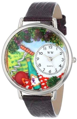 Whimsical Watches Unisex-Armbanduhr Analog Quarz Leder U-0310010