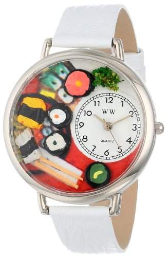 Whimsical Watches Unisex-Armbanduhr Analog Quarz Leder U-0310013